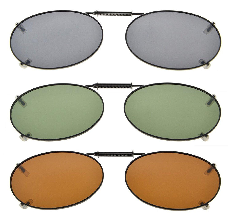1c1ddaadbe4 3-Pack Clip-on Polarized Sunglasses 2×1 5 16 inch (51x33MM) C76-3pcs-Mix  Item NO  C76-3pcs-Mix