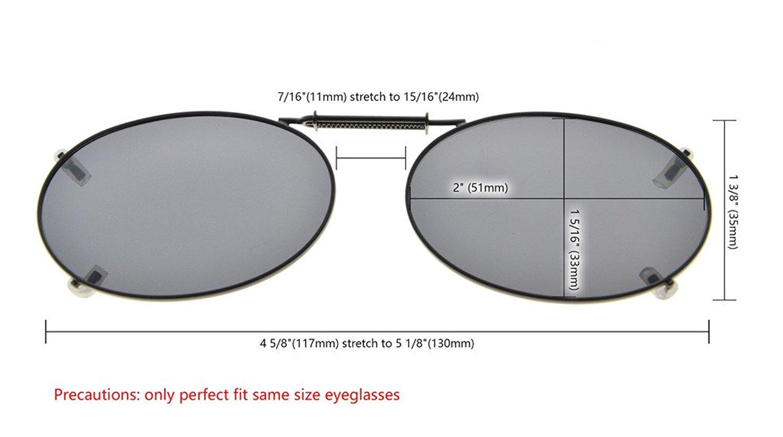e6e1ed1bc3b Eyekepper 3-pack Clip-on Polarized Sunglasses 51x33MM C76-3pcs-Mix
