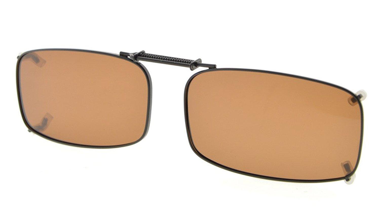 792a6d7d77 Metal Frame Rim Polarized Lens Clip On Sunglasses 2 1 4×1 3 16 inch  (54x30MM) C87 Item NO  C87