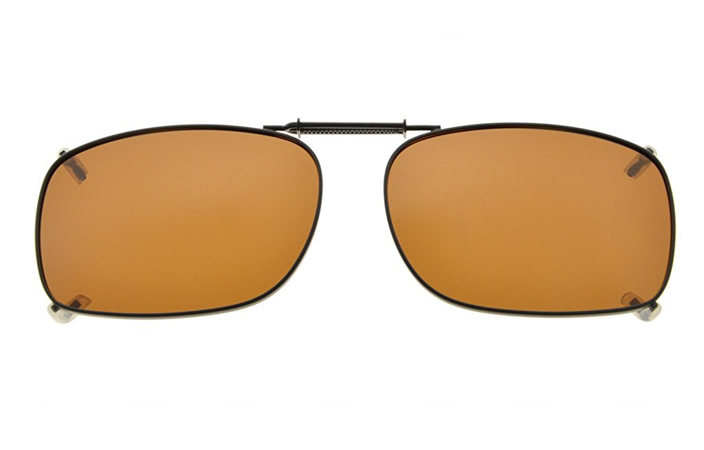 19e4aca335 Eyekepper Metal Frame Rim Polarized Lens Clip On Sunglasses 51x36MM C75