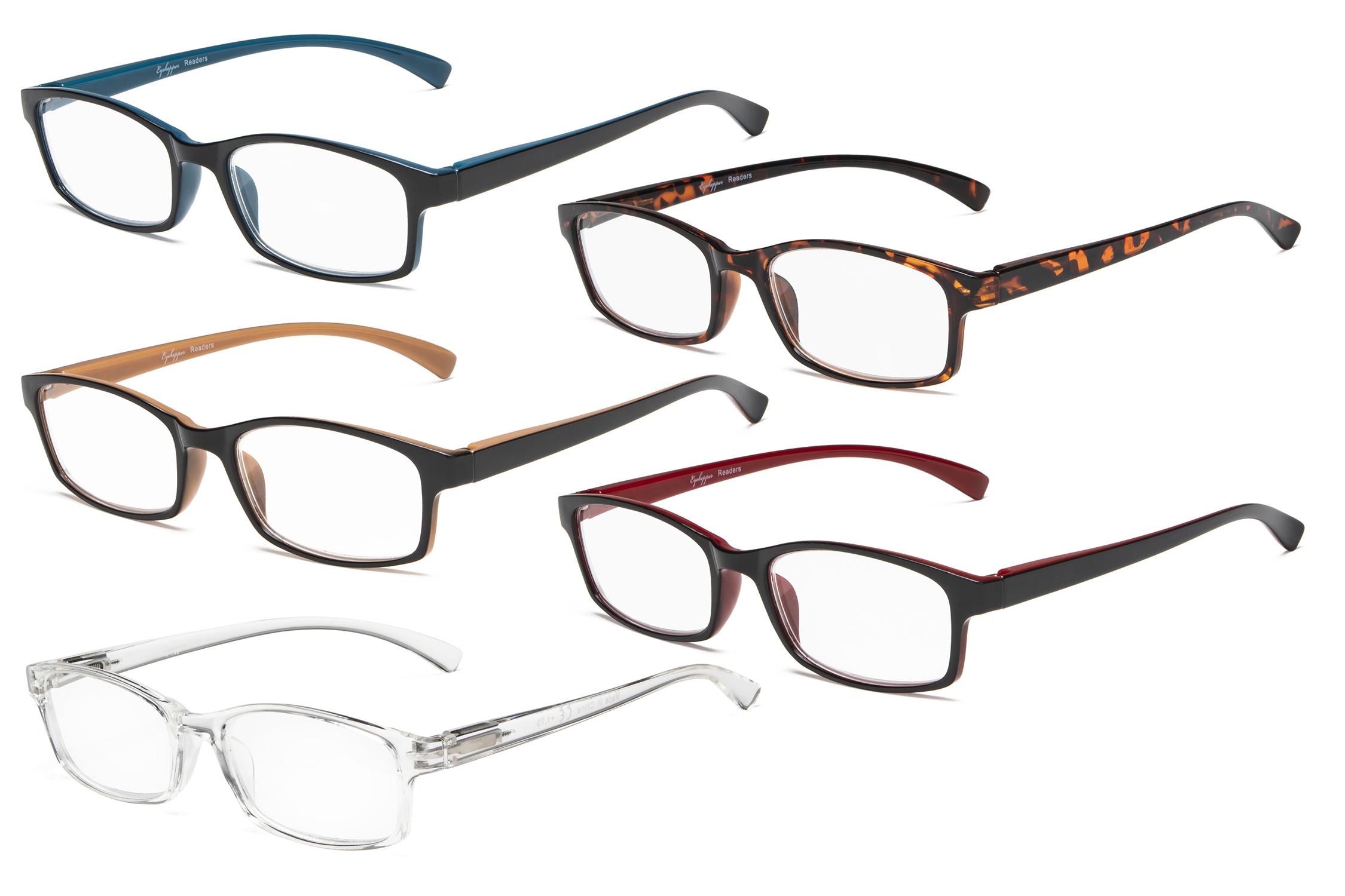 0cd7d44a2b48 Eyekepper Reading Glasses 5 Pairs Fort Readers Women Men R177 Mix