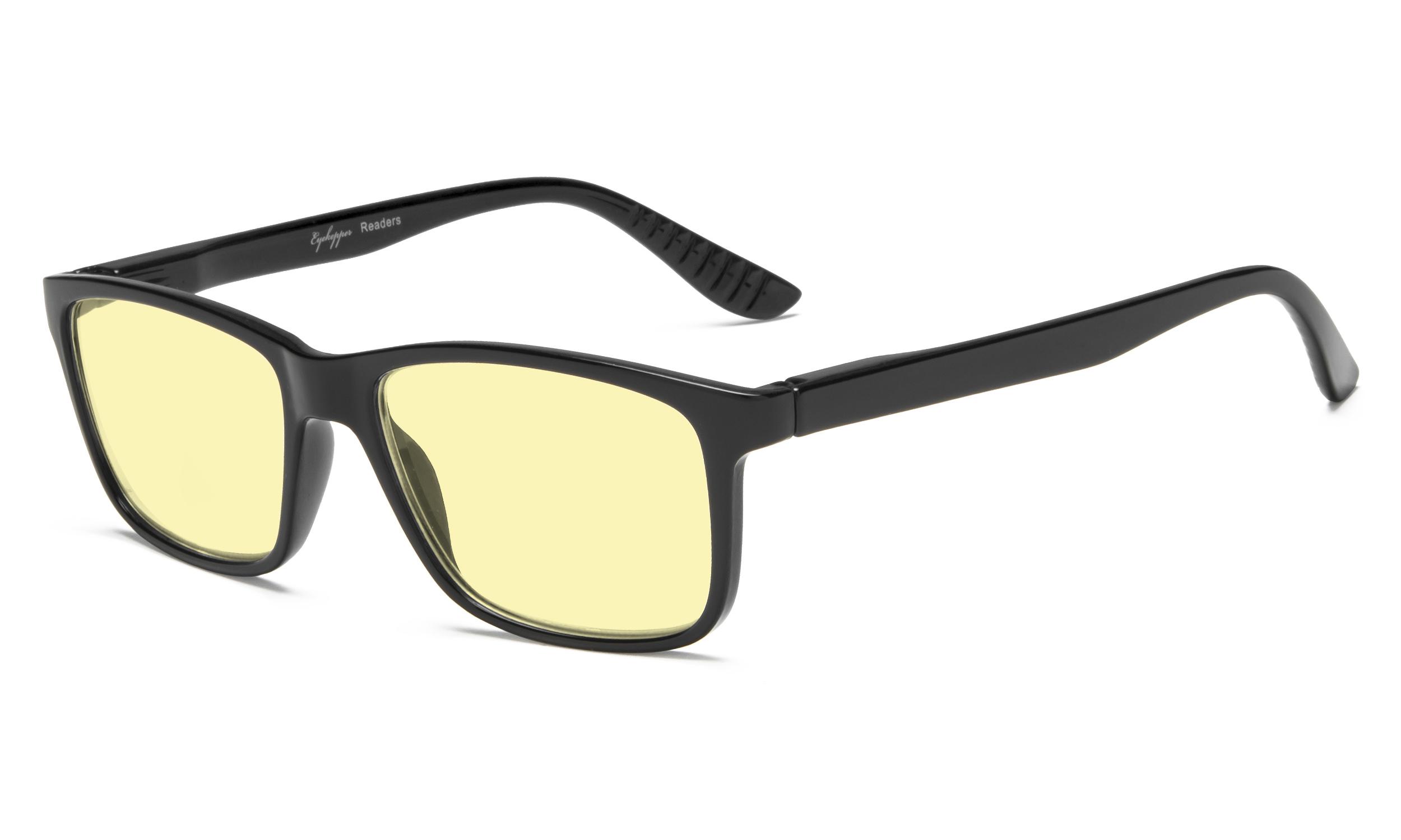 57f249d5380 Eyekepper Computer Reading Glasses Yellow Tinted Lens Blue Light Shield  TM163