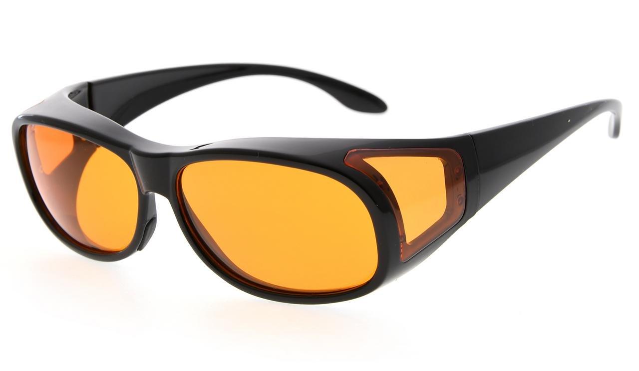 f353346edd93 Eyekepper Fit over Computer Glasses Block 100% Blue Light and Anti-UV for Sunshine  Readers Black DSXM1804
