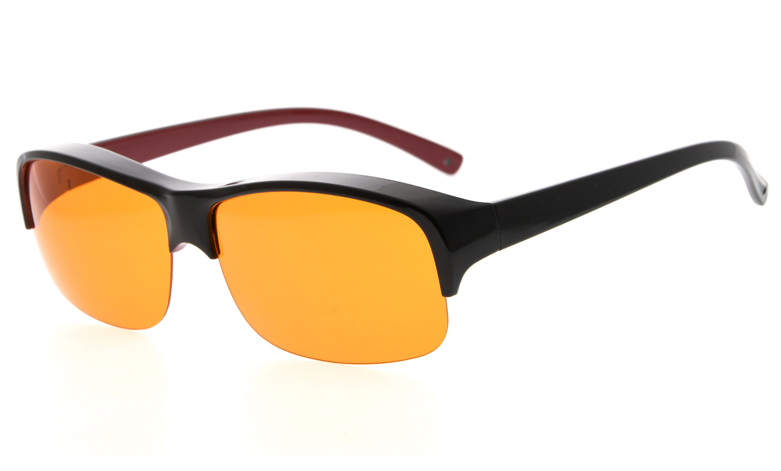 9f47a4999eb7 Eyekepper Fit over Computer Glasses Block 100% Blue Light and Anti-UV for Sunshine  Readers Black-Red DSXM1801