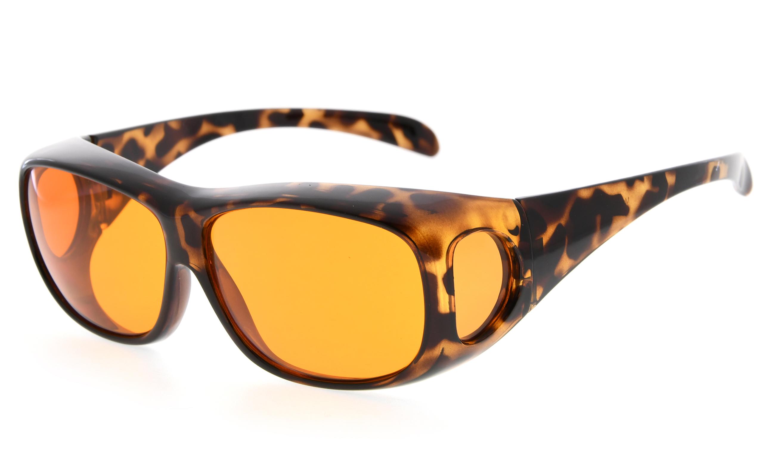 e44d49691eb2 Eyekepper Fit over Computer Glasses Block 100% Blue Light and Anti-UV for Sunshine  Readers Tortoise DSXM1806