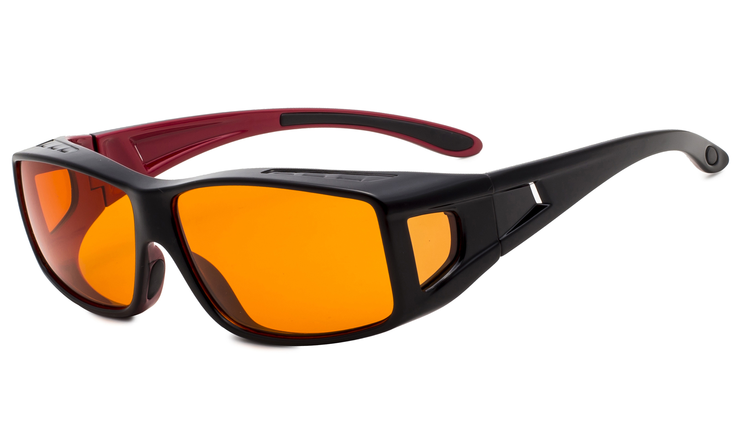 3363559f3164 Eyekepper Fit over Computer Glasses Block 100% Blue Light and Anti-UV for Sunshine  Readers Black-Red DSXM1805