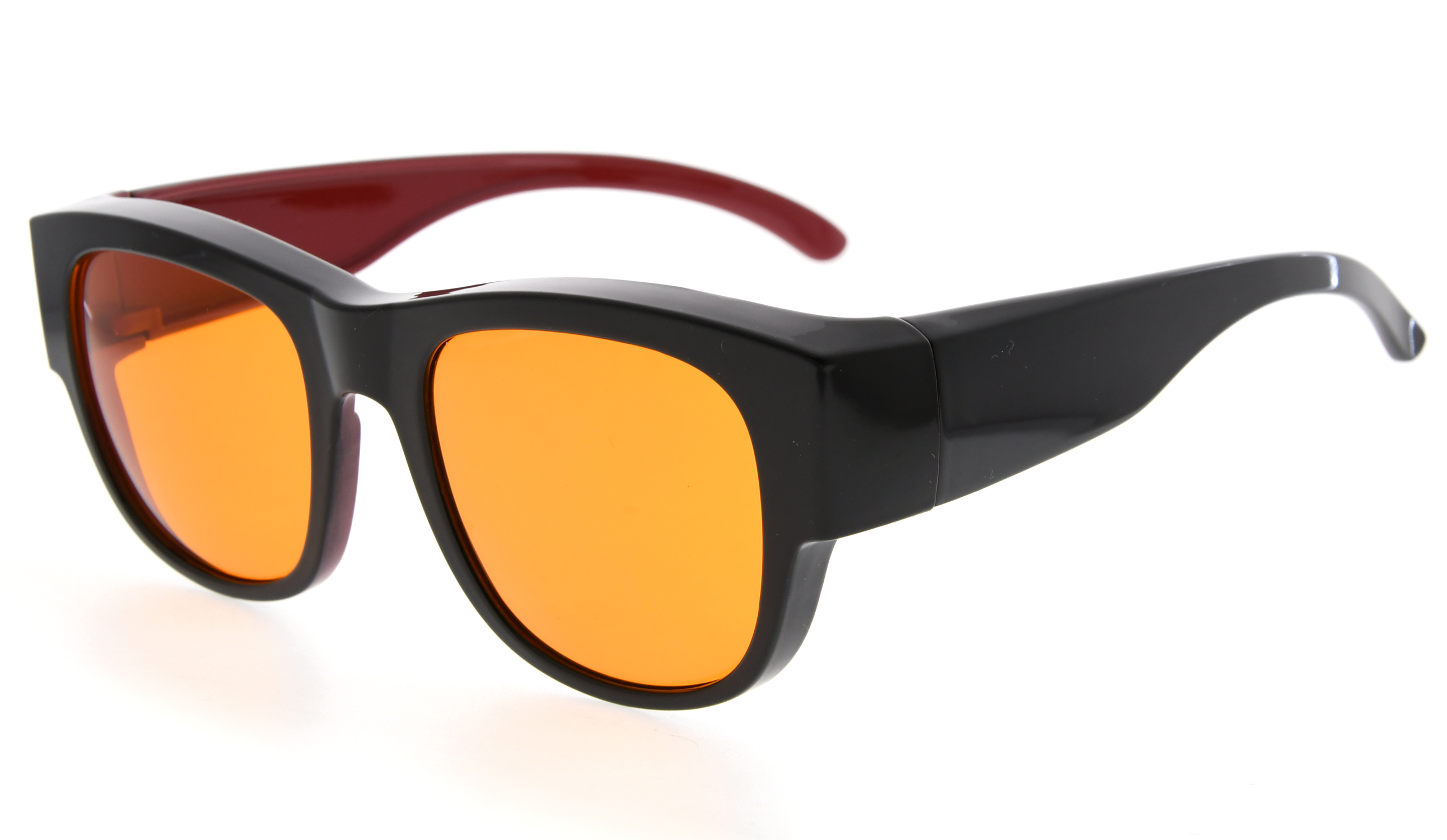 39a35ac233b Eyekepper Fit over Computer Glasses Block 100% Blue Light and Anti-UV for  Sunshine Readers Black-Red DSXM1802