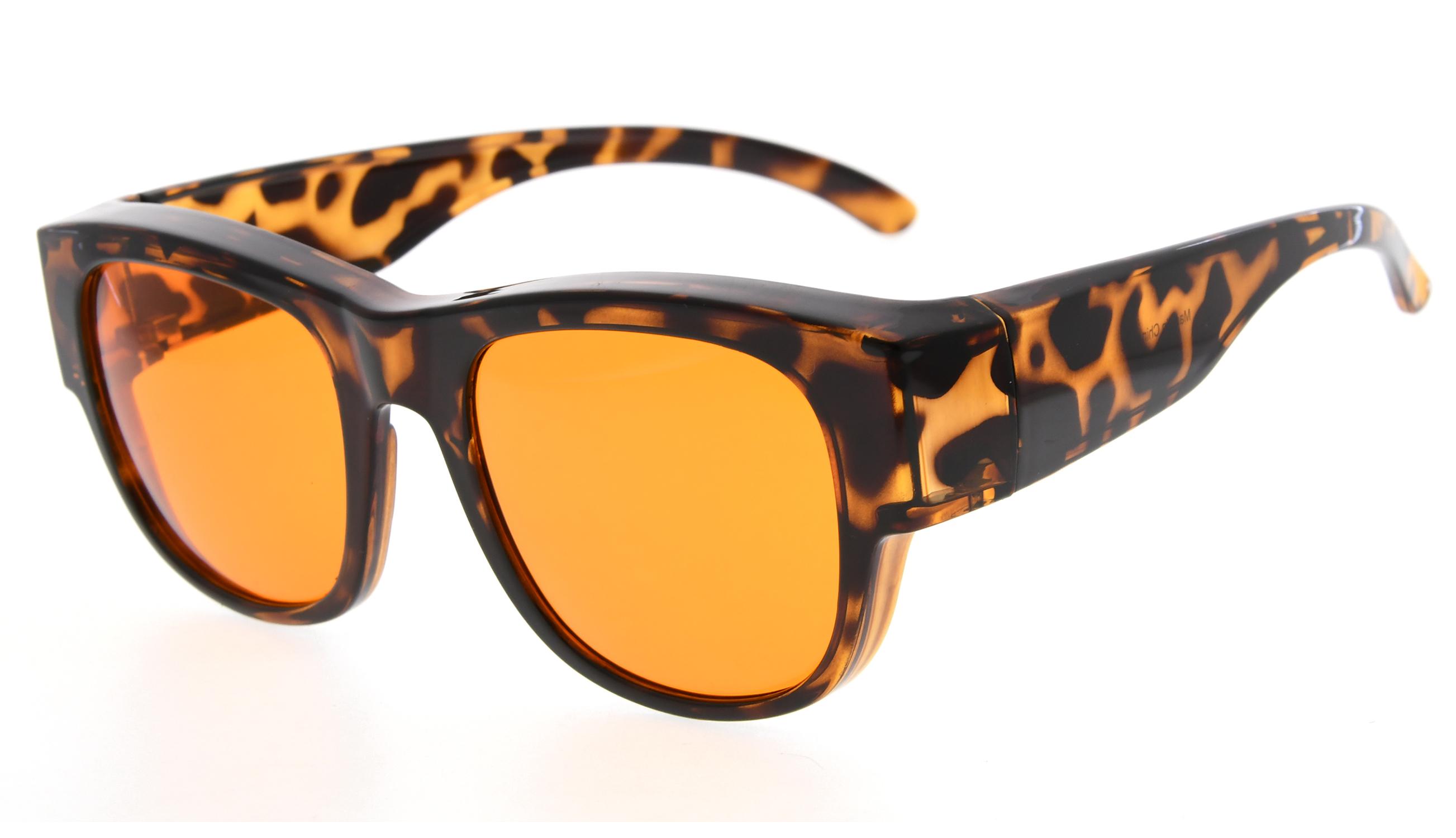 fa70933ea24 Eyekepper Fit over Computer Glasses Block 100% Blue Light and Anti-UV for  Sunshine Readers Tortoise DSXM1802