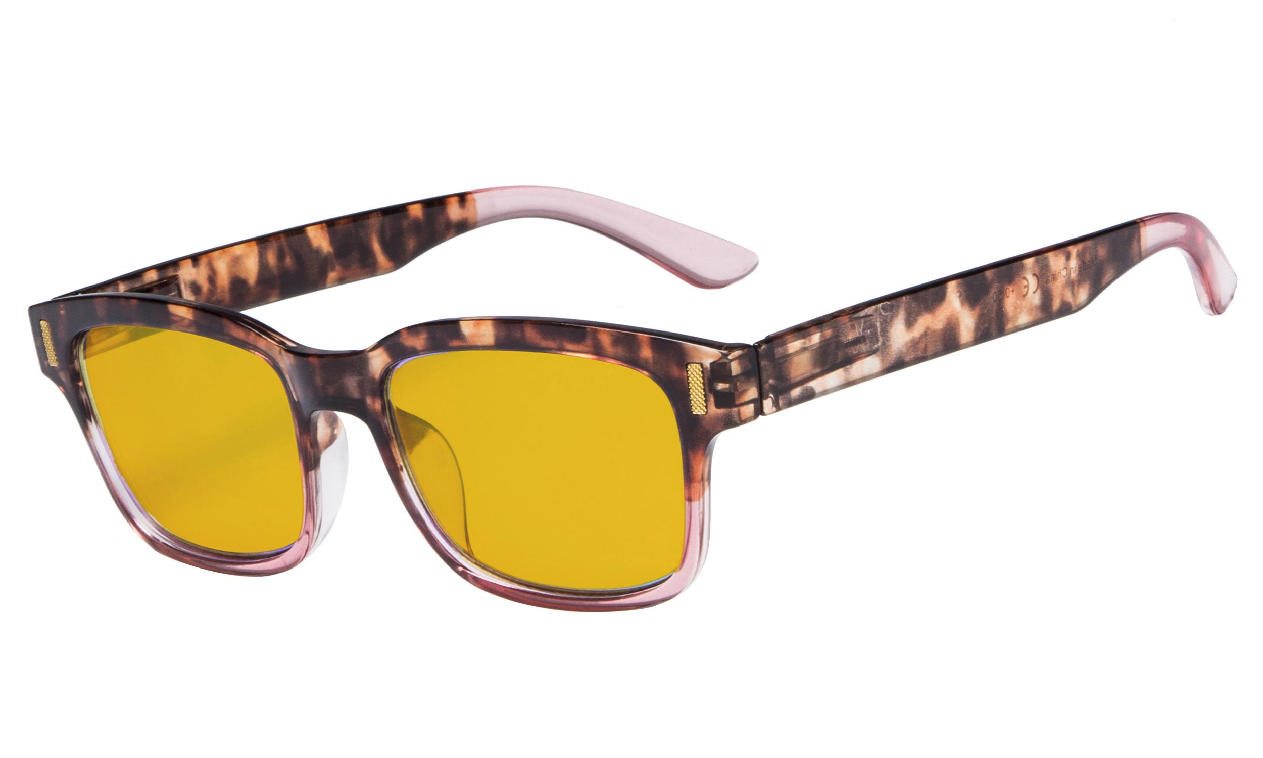 851e4faf016 Eyekepper Stylish Computer Reading Glasses with 80% Blue Blocking Visible  Coating Tortoise Pink CGT1802