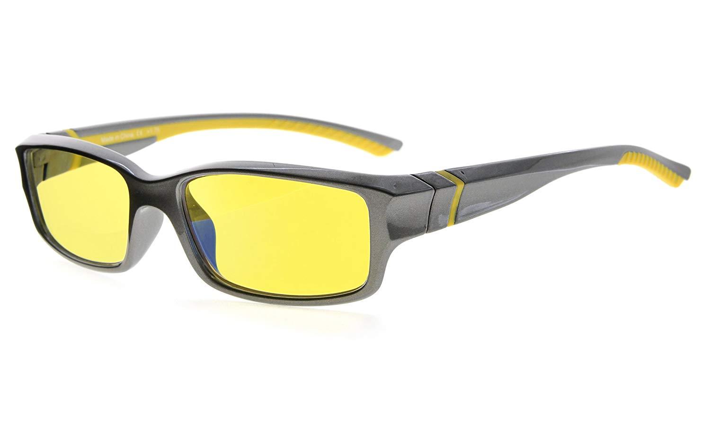 5ba2ac21afa Eyekepper Computer Reading Glasses 94% Blue Light Blocking Yellow Tinted  Lens Grey-Yellow +1.25