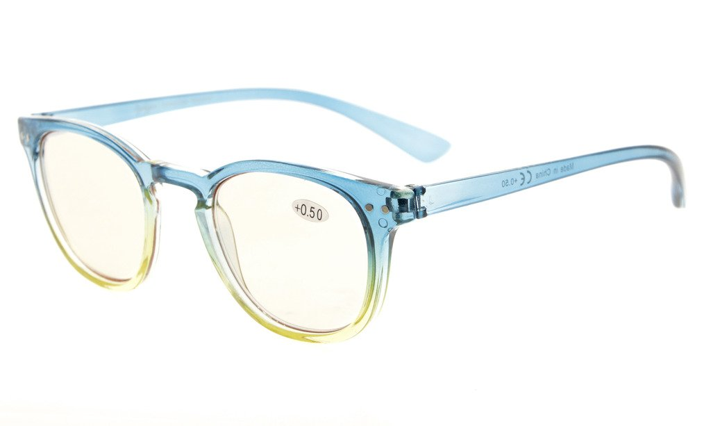 242a18676f Eyekepper Computer Reading Glasses UV Protection Tinted Lens Gradient Frame  Blue-Yellow Frame CG144