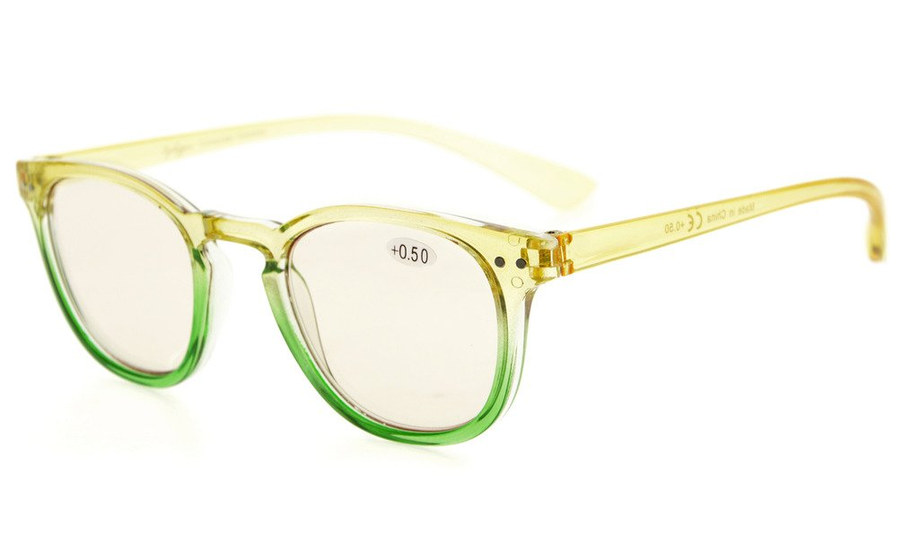 c14e69c793 Eyekepper Computer Reading Glasses UV Protection Tinted Lens Gradient Frame  Yellow-Green Frame CG144