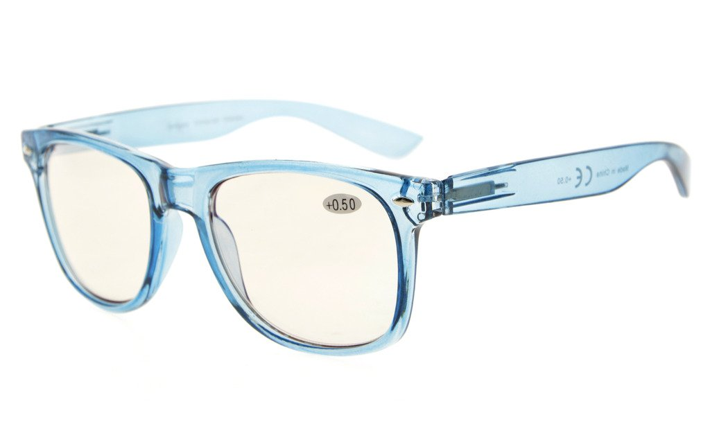 8722b274e6 Eyekepper Computer Reading Glasses UV Protection Large Frame Spring Hinge  Blue CG133