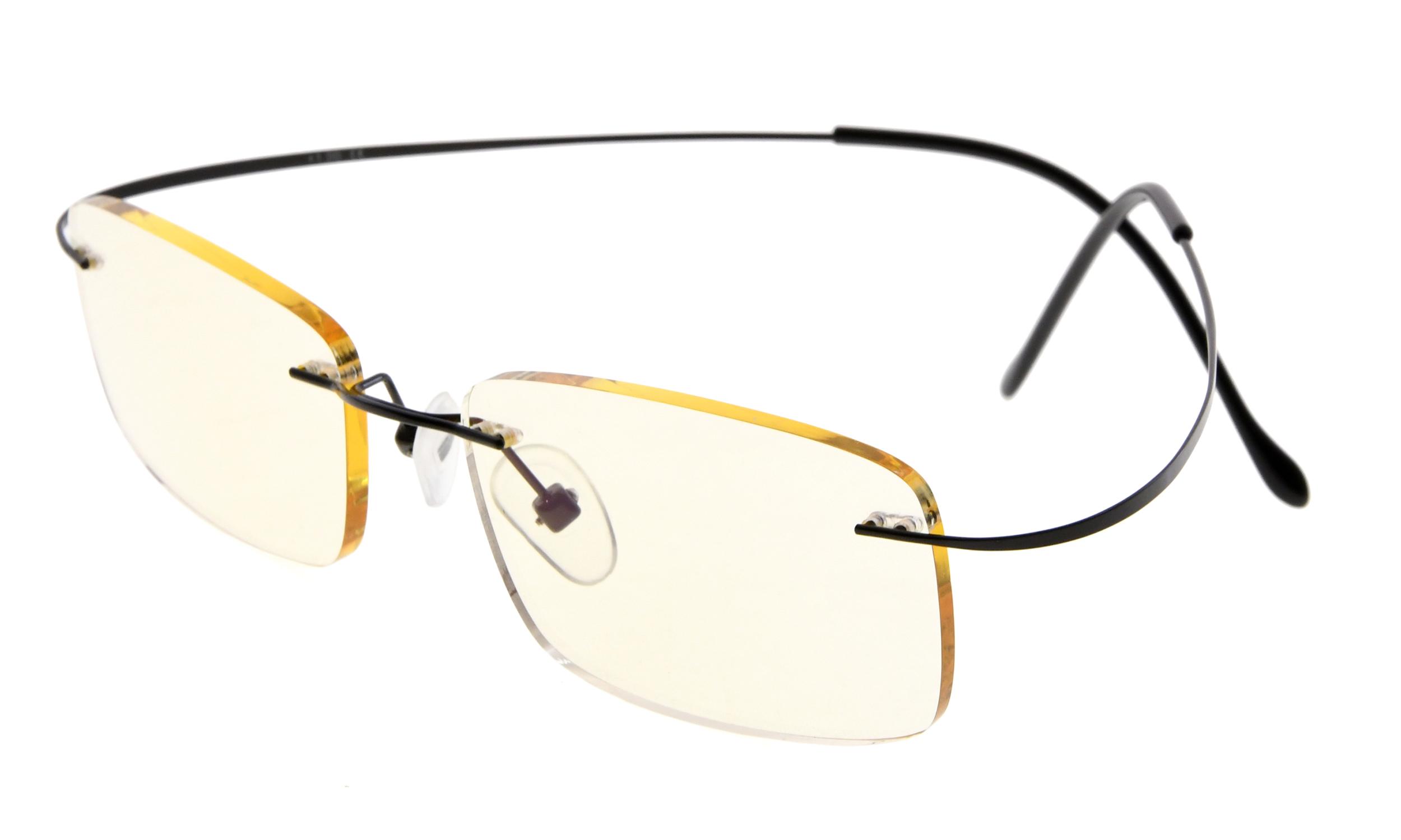 1534c7790dae Eyekepper Computer Reading Glasses UV Protection Titanium Rimless Stylish Readers  Women Men Black CG1508