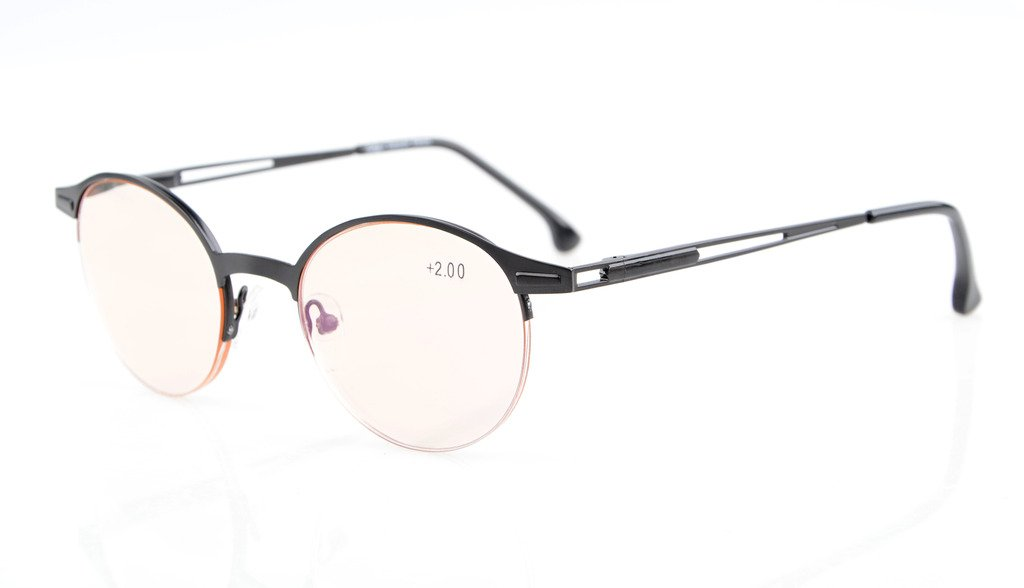 3758dc3f09 Eyekepper Computer Reading Glasses Anti-UV Quality Spring Hinges Half-Rim  Oval Round Frame CG1646
