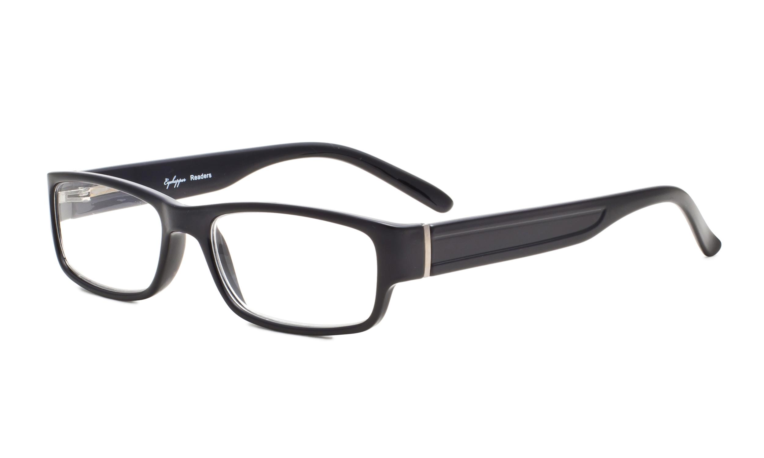 7238dc5e0dd9 Eyekepper Reading Glasses Classic Full Frame Design with Quality Spring- Hinges Temples Women Men Balck R092