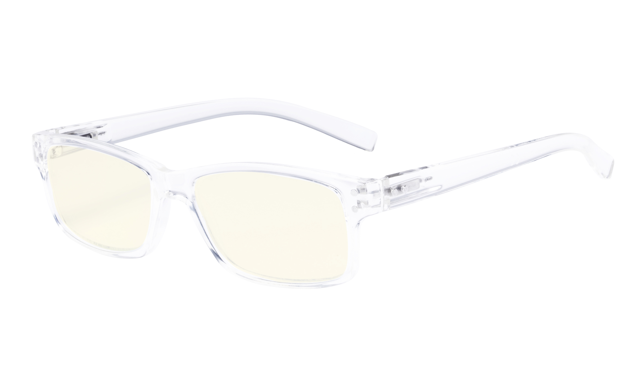 eyekepper computer glasses uv protection anti glare/blue rays readers  transparent frame cg032