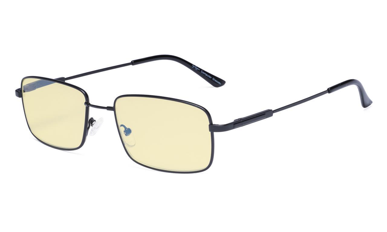4a8bf4c0ed8 Eyekepper Blue light Glasses Men-Computer Reading Glasses-Memory Titamiun  Spring Hinge Readers Black TMCG1701