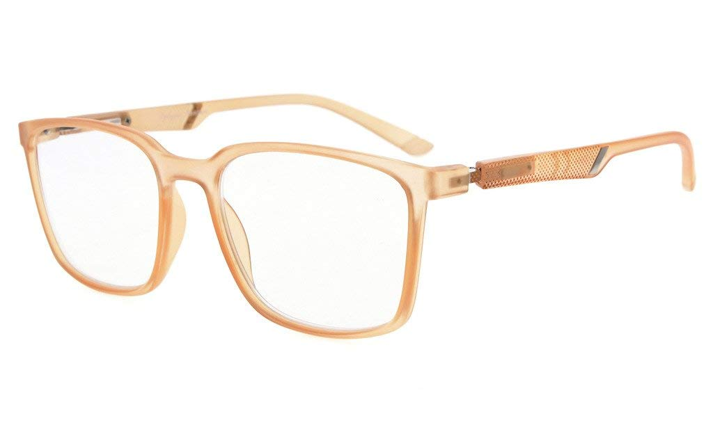 4ce582f11c1f Eyekepper Large Frame Readers Special Spring Hinges Reading Glasses Men  Women Champagne R151