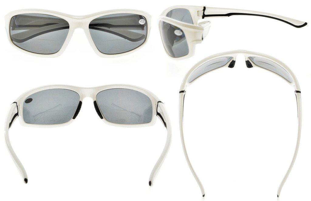 4892d324d0 Eyekepper Bifocal Sunglasses with TR90 Frame for Finishing Driving Sports  Cool Style Man White-Frame TH6199-Bifocal