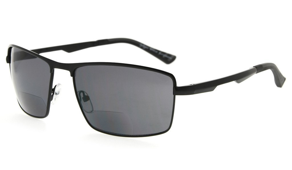 380fe746ae Eyekepper Bifocal Sunglasses Polarized Anti-UV Square Design Sun-reading  Women Men Black PGSG802-Bifocal