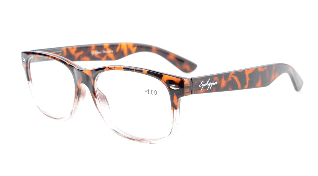 a1437efb88b Eyekepper Quality Spring Hinges Retro Reading Glasses Tortoiseshell-Clear  R900