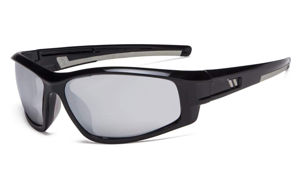 654d4c56313 Eyekepper Bifocal Sunglasses for Sports TR90 Outdoor Silver-Mirror S045- Bifocal