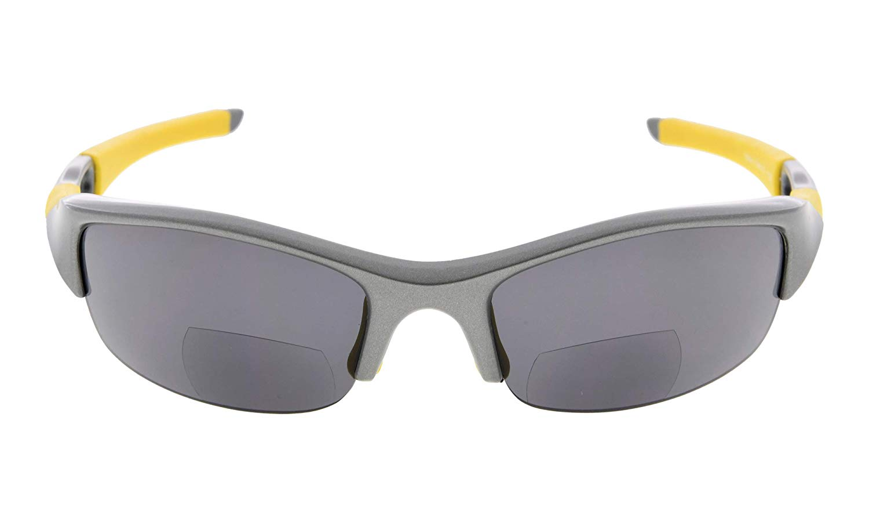 c080df5263d Eyekepper Bifocal Sunglasses Polarized Tinted Lens Quality TR90 Frame  Half-rimless Sports Design Men Grey Frame TH6166PGSG
