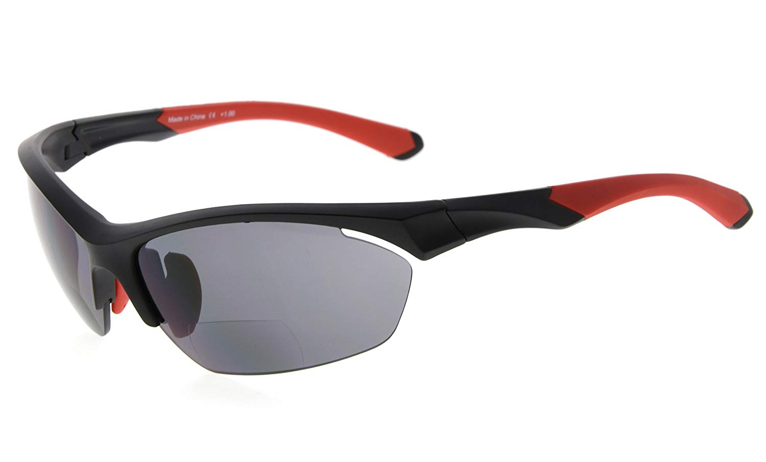 97db990a8 Eyekepper Bifocal Sunglasses UV Protection Quality TR90 Frame Half-Rimless  Sports Readers Men Black-Red SG902-Bifocal
