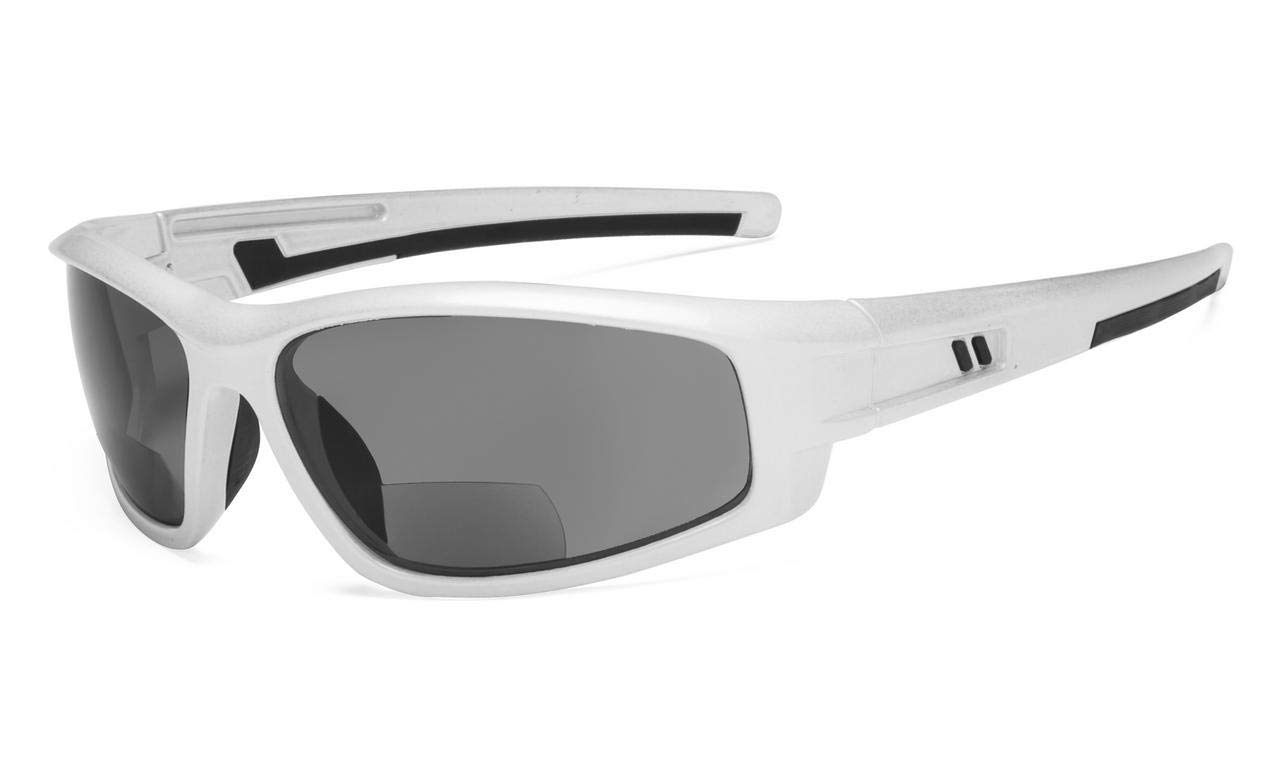 ca6d5f50d124 Eyekepper Bifocal Sunglasses for Sports TR90 Outdoor Pearly-Silver S045- Bifocal