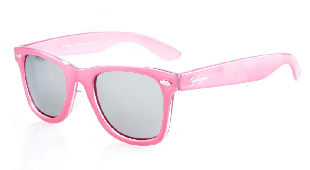 c81ac04c8 Eyekepper Sunglasses Polarized Classic 80's Vintage Pink/Silver Mirror S003- Polarized