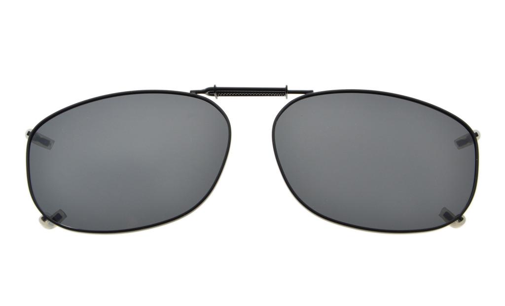 c51ae220fc4ac Metal Frame Rim Polarized Lens Clip On Sunglasses 2 1 8 x1 7 16. Loading  zoom