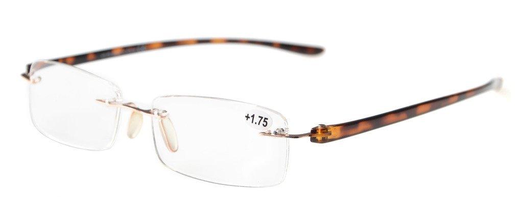 5750f2a5d45a Reading Glasses Small Lenses Rimless Readers DEMI Arm R14001 Item NO:  R14001-DEMI Arm