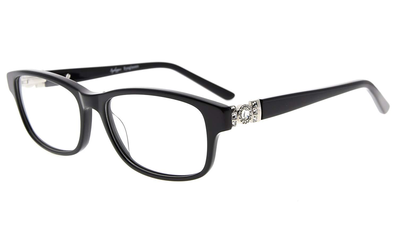 8ae97f508bd0 Eyekepper Eyeglasses Optically correct Quality Spring Hinge Rx-able Acetate  Frame Women Black FA0062