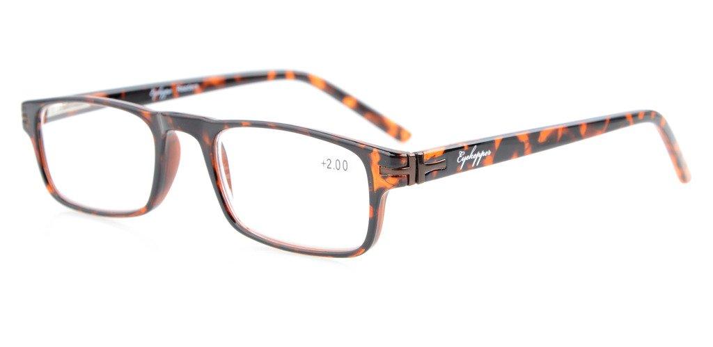 6c2fcde29c6c Eyekepper Reading Glasses Metal Frame Spring Hinges Crystal Clear Vision Readers  Tortoise RID30315