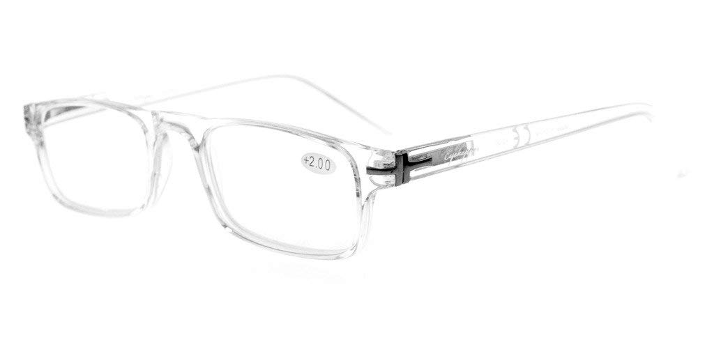 28fcba31f01 Eyekepper Reading Glasses Metal Frame Spring Hinges Crystal Clear Vision  Readers Transparent Frame RID30315
