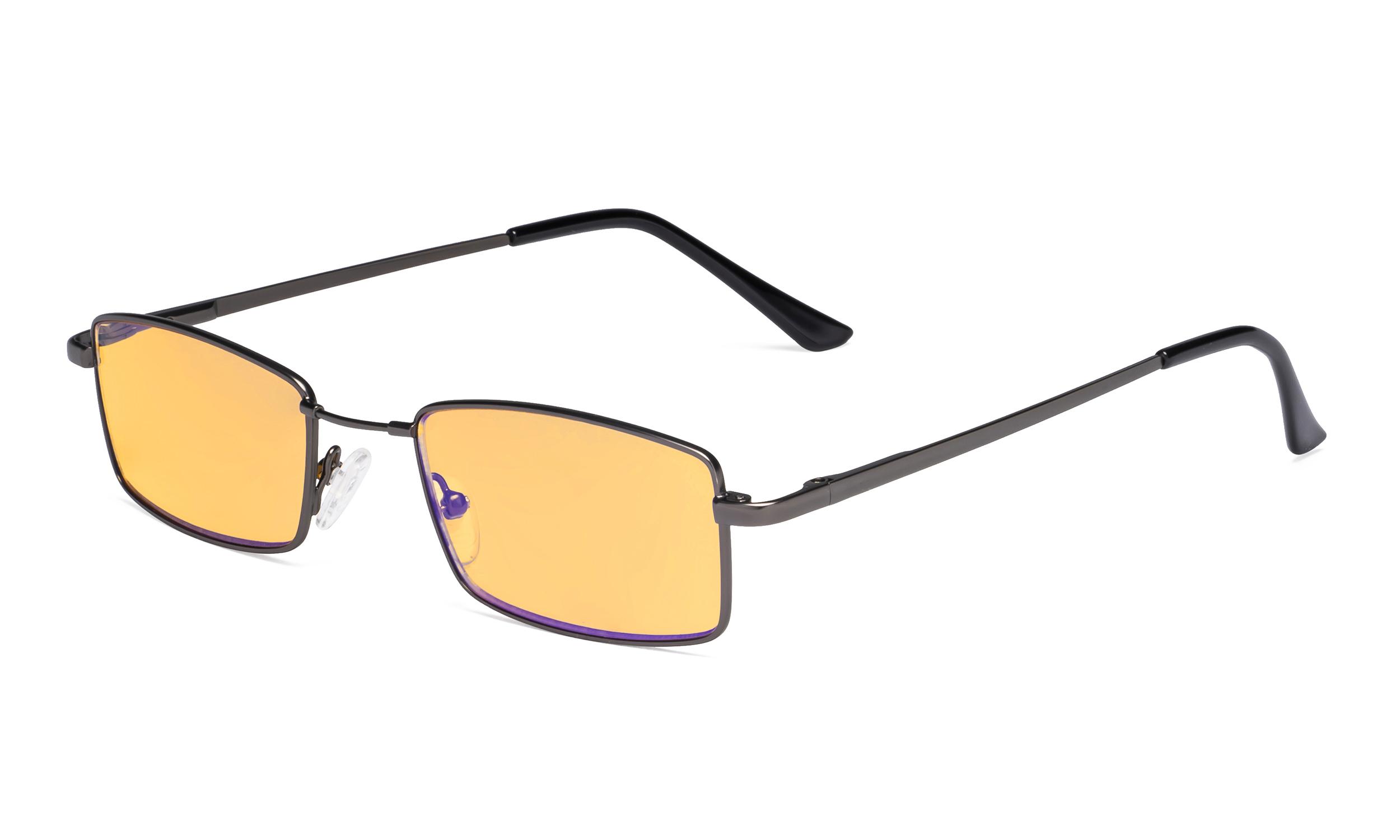Large Memory Frame Blue Light Blocking Bifocal Reading Glasses for Men