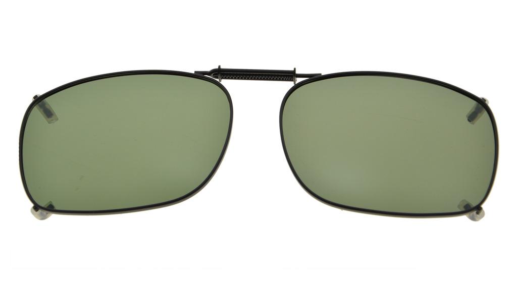 Metallrahmen Rand polarisierte Gläser aufsteckbare Sonnenbrille 2 14 × 1 12 Zoll (54 x 38 mm) G15 C78
