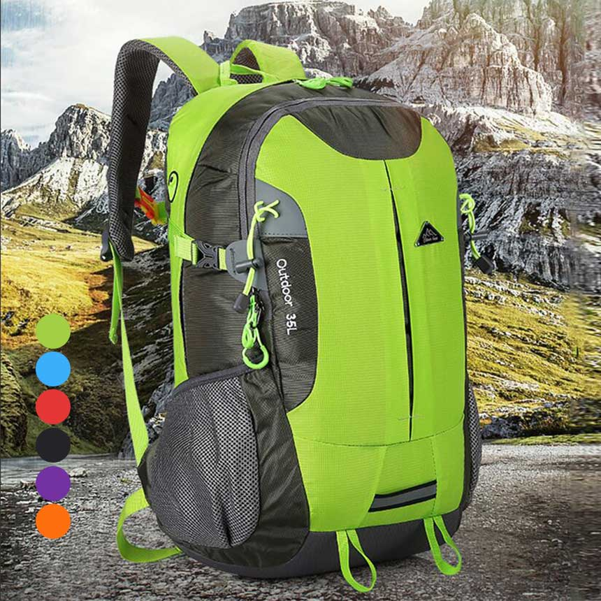 Waterproof Travel Hiking Backpack 35L Sports Bag For Women Men 6 Colors  Outdoor Camping Climbing Bag Mountaineering Rucksack Item NO   BSTJT523310833268 015ea0f3ca