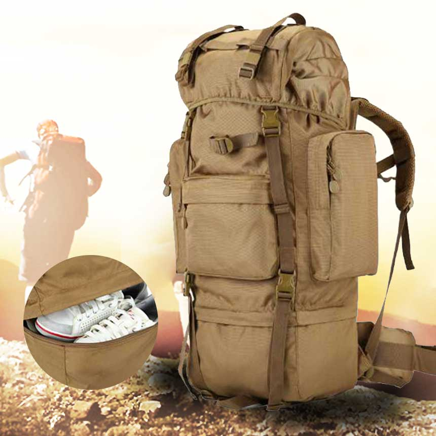 293dbe9227 70L outdoor mountaineering bag men s shoulder bag backpack super capacity  tactical mountain tour 07 Backpack Item NO  BSTAL566401616097