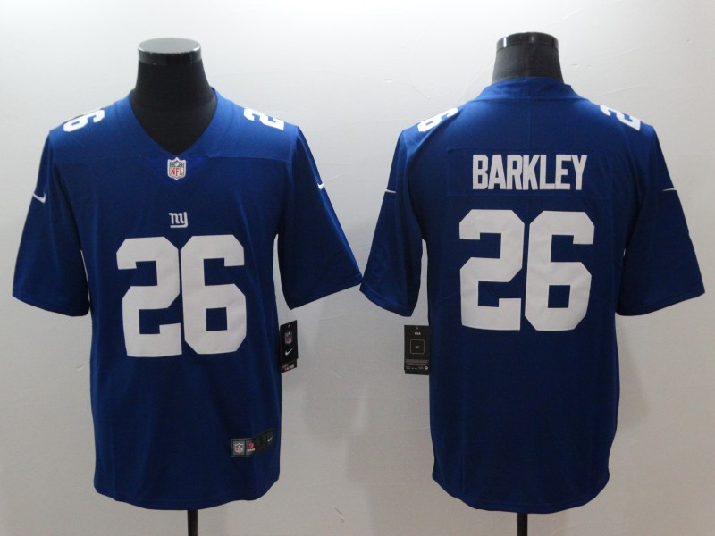 finest selection 31d50 ad812 Nike NFL New York Giants #26 Barkley Color Rush Limited Blue Jersey