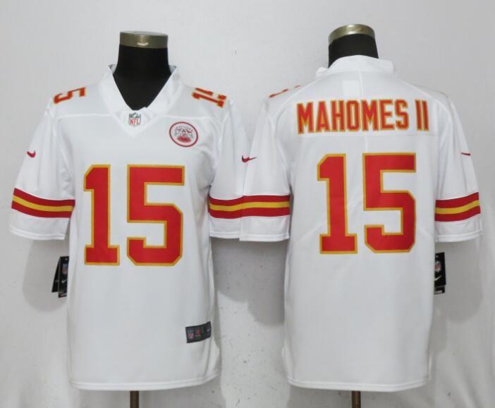 daeec734116 Nike Kansas City Chiefs #15 Patrick Mahomes II White NFL Vapor Untouchable  Limited Jersey Item NO: 1014978