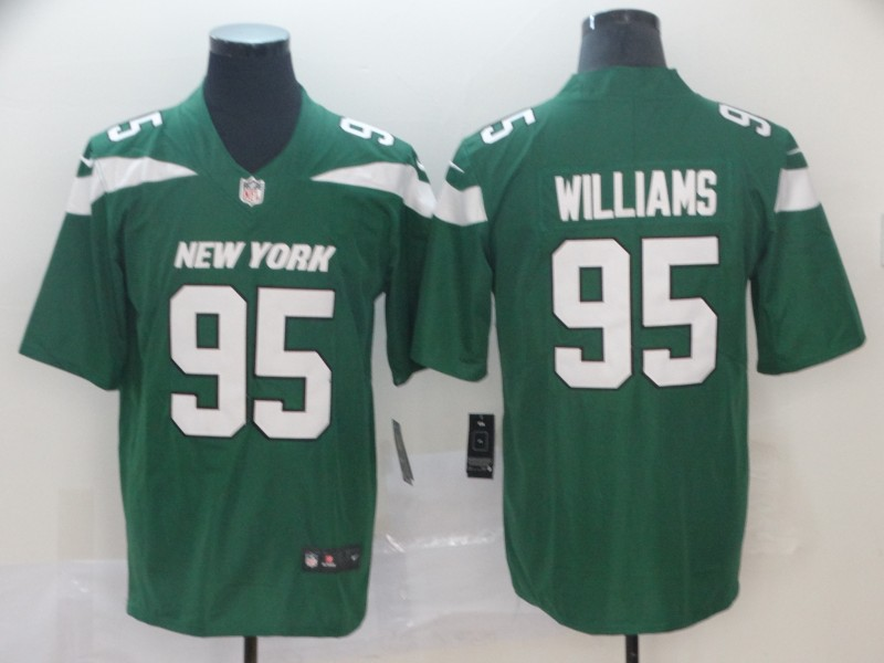 Cheap US$ 23 Men's New York Jets #95 Williams Green Vapor Untouchable  supplier