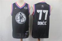2b2406475 NBA Mavericks 77 Luka Doncic Anthracite 2018-19 City Edition Swingman Nike  Men Jersey