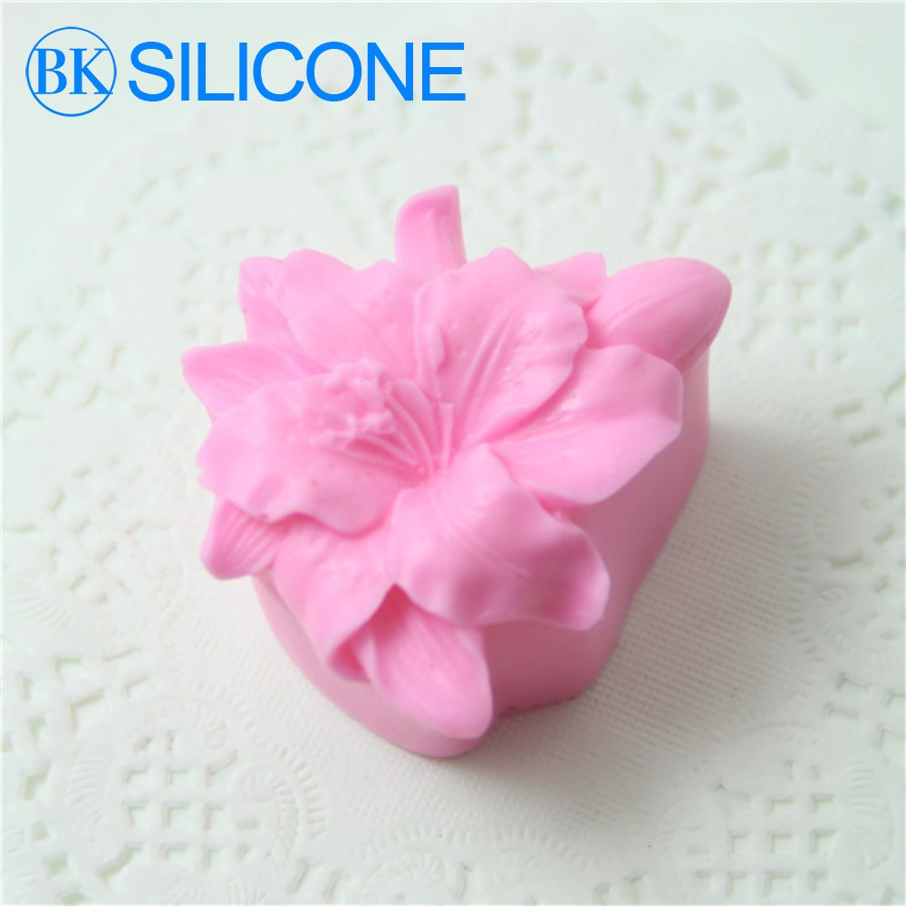 Lily Silicone Soap Molds Chocolate Cookie Mould Flowers Cake