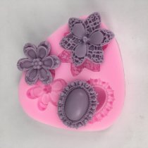BK1006 Flower Silicone Molds Fondant craft Cake Candy Mould