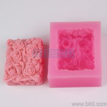 BF022 Creative Rose Silicone Soap Mould Cake Mold Resin Mold Cake Baking Tools Silicone Soap Mold