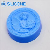 Enjoying Flowers Angel Soap Molds Fondant Cake Mold Chocolate Mould For The Kitchen Baking AJ004