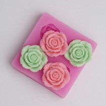 BC017 Flowers Silicone Mold for Fondant, Cake Decorating Chocolate Cookie Soap Fimo Polymer Clay Resin