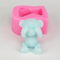 Bear silicone mold decoration car pendant aromatherapy wax mould gyps molds BK1053